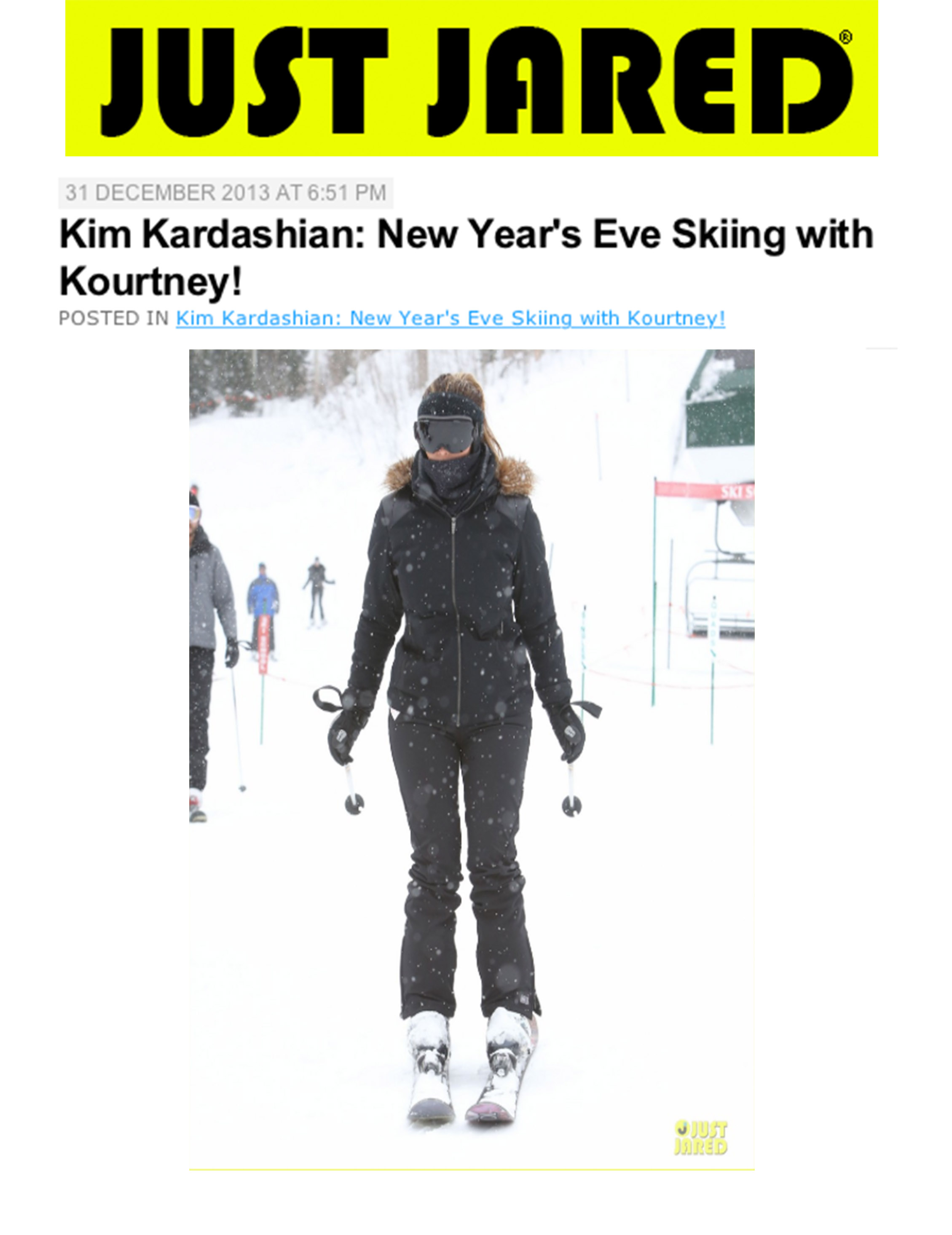 Kim Kardashian Looks Fab Skiing in the Betty Pant 9ace0364ce3a