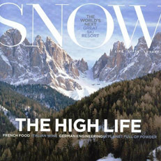 NILS Whitney Sweater graces the pages of SNOW Magazine